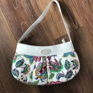 Vera Bradley white leather quilted purse